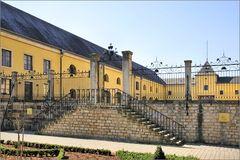 Treppe zum Schloss Bettembourg