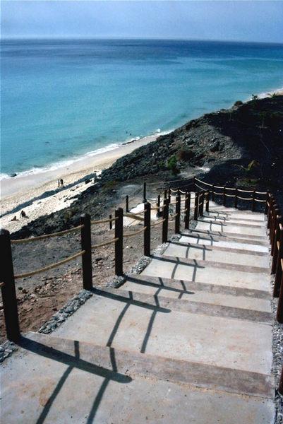 Treppe zum Strand - Jandia
