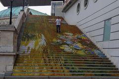 Treppe zur Albertina