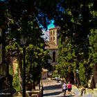 Treppe zur Iglesia de Transfiguración del Señor Arta Mallorca
