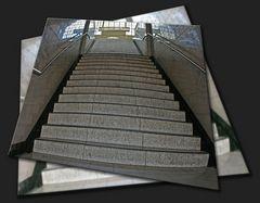 Treppe zur U-Bahn Warschauer Straße (Berlin)