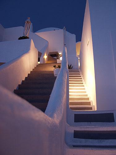 Treppen auf Santorini