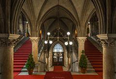 Treppenaufgang im Wiener Rathaus
