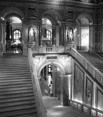 Treppenhaus im Museum Naturwissenschaftlichen Museum in wien