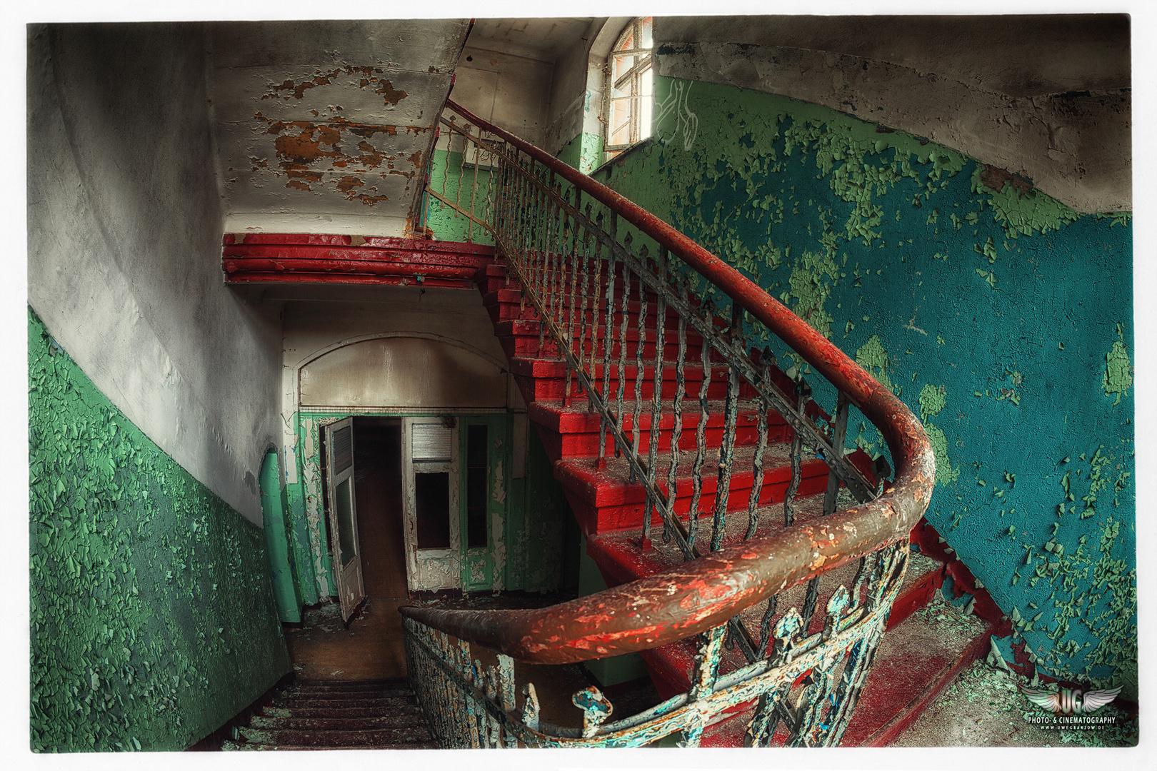 Treppenhaus in Beelitz Heilstätten