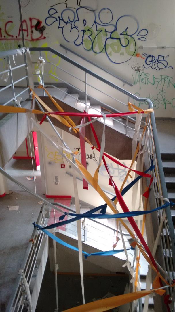 Treppenhaus in einem verlassenen Krankenhaus