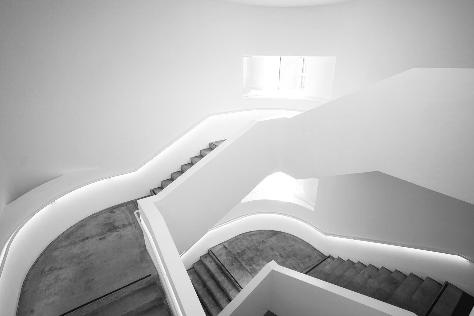 Treppenhaus mit Ausblick
