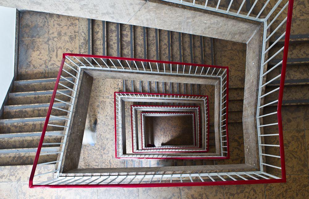 * Treppenhaus von oben **