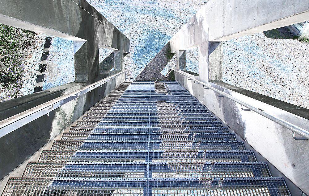 Treppenskulptur in der Nähe Kokerei Zollverein