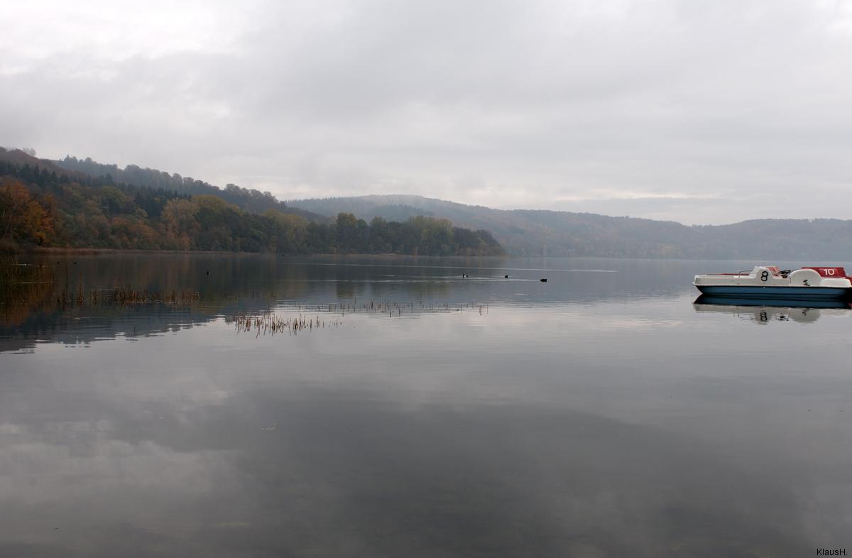 Tretbootfahren auf dem Laacher See...