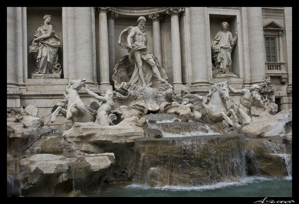 Trevi Brunnen - Studienfahrt