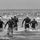 Triathlon finishing line