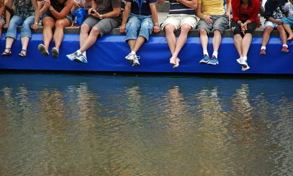 Triathlon Hamburg - Zuschauer