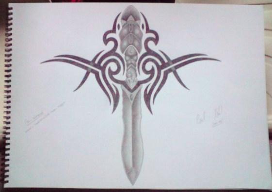 Tribal/old skool tattoo