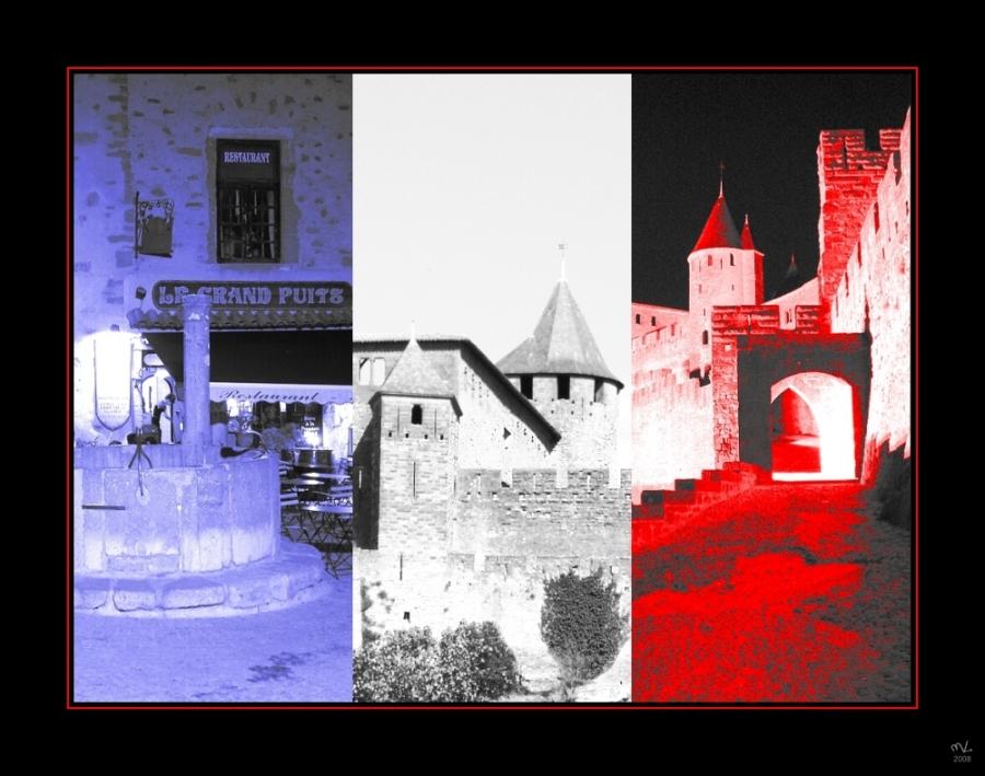 tricolore (rouge): Carcassonne