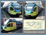 Triebwagen der WestfalenBahn GmbH im HBF Münster
