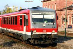 Triebwagen in Tauberbischofsheim