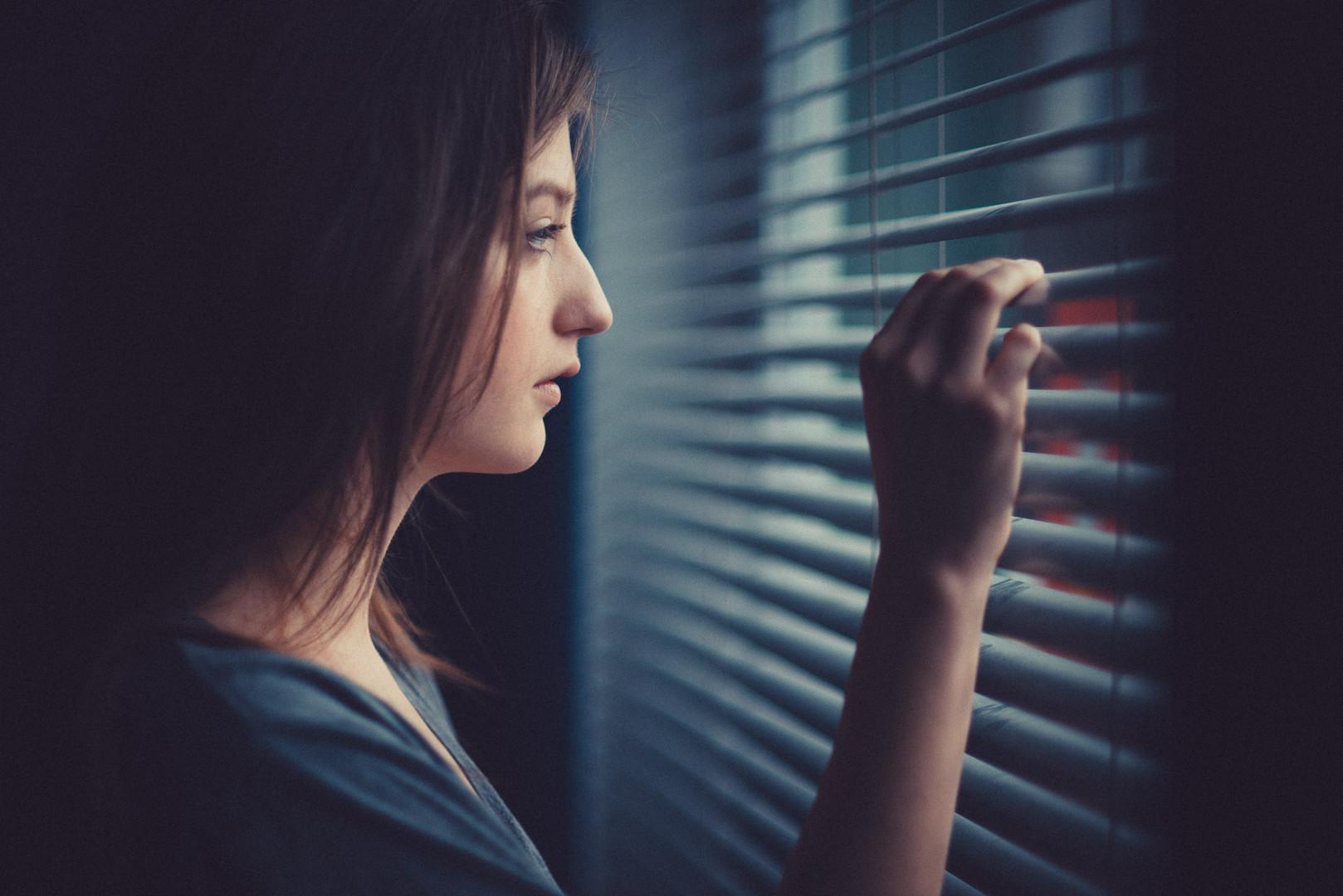 Trister Tag vor dem Fenster