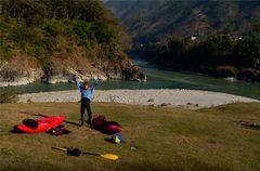 Trisuli Nepal Letzte Nacht am Fluss nahe Mugling