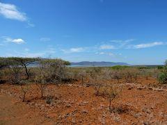 Trockenes Land,es hat Monate lang nicht geregnet.