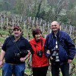 Trois photographes dans les vignes du Jura