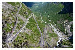 Trollstiegen - Aufstieg ...