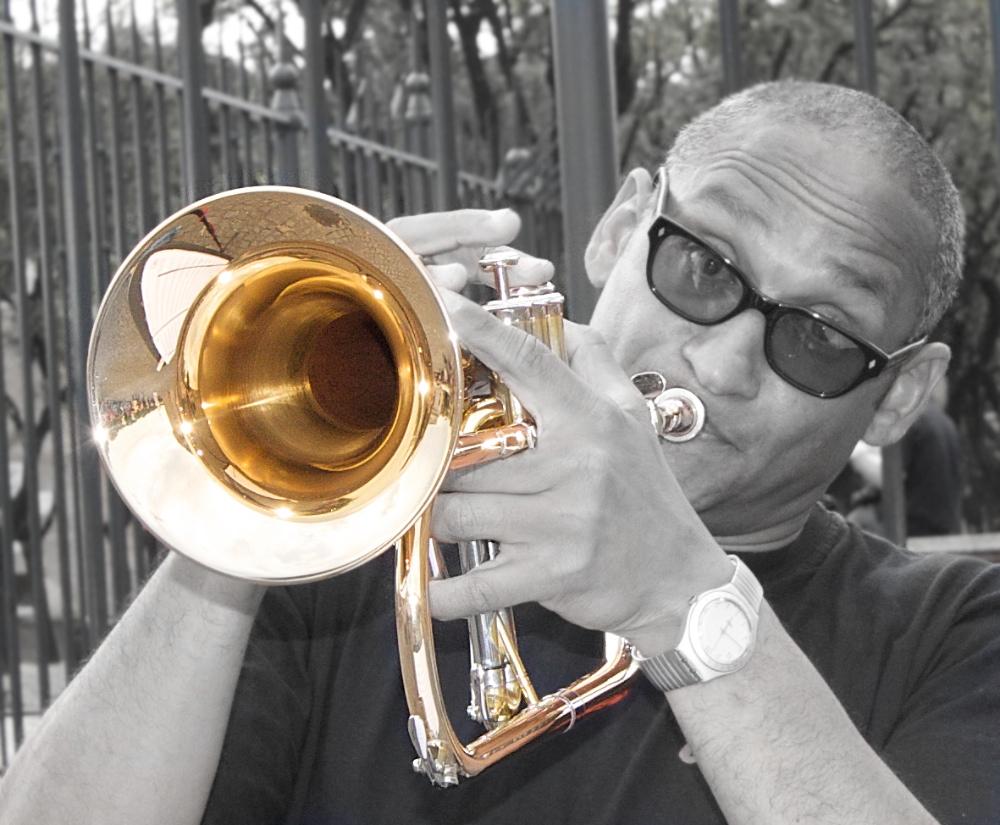 Trombettista da strada