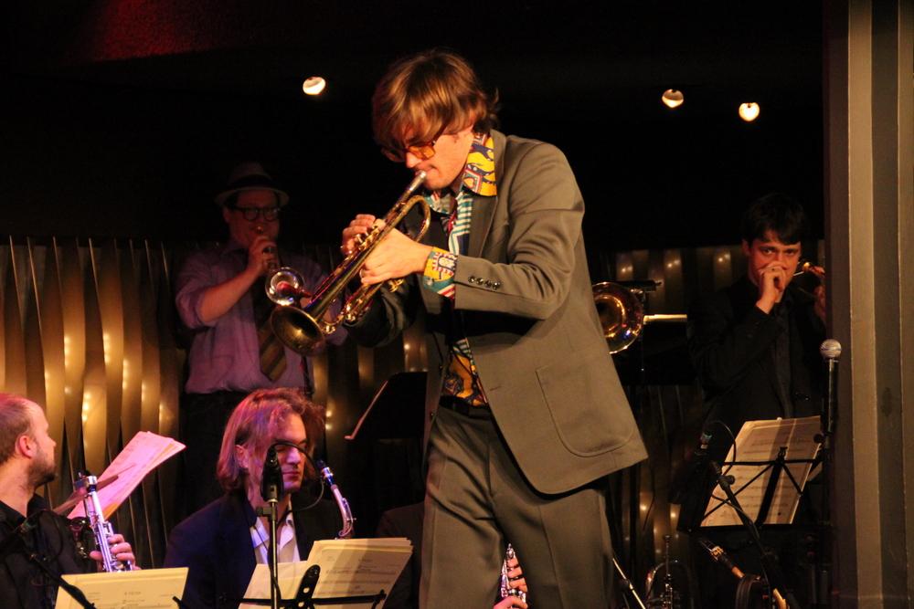 Trompeter bei Konzert in Stuttgart