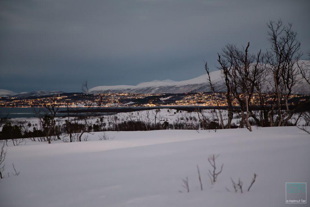 Tromsø in der Dämmerung