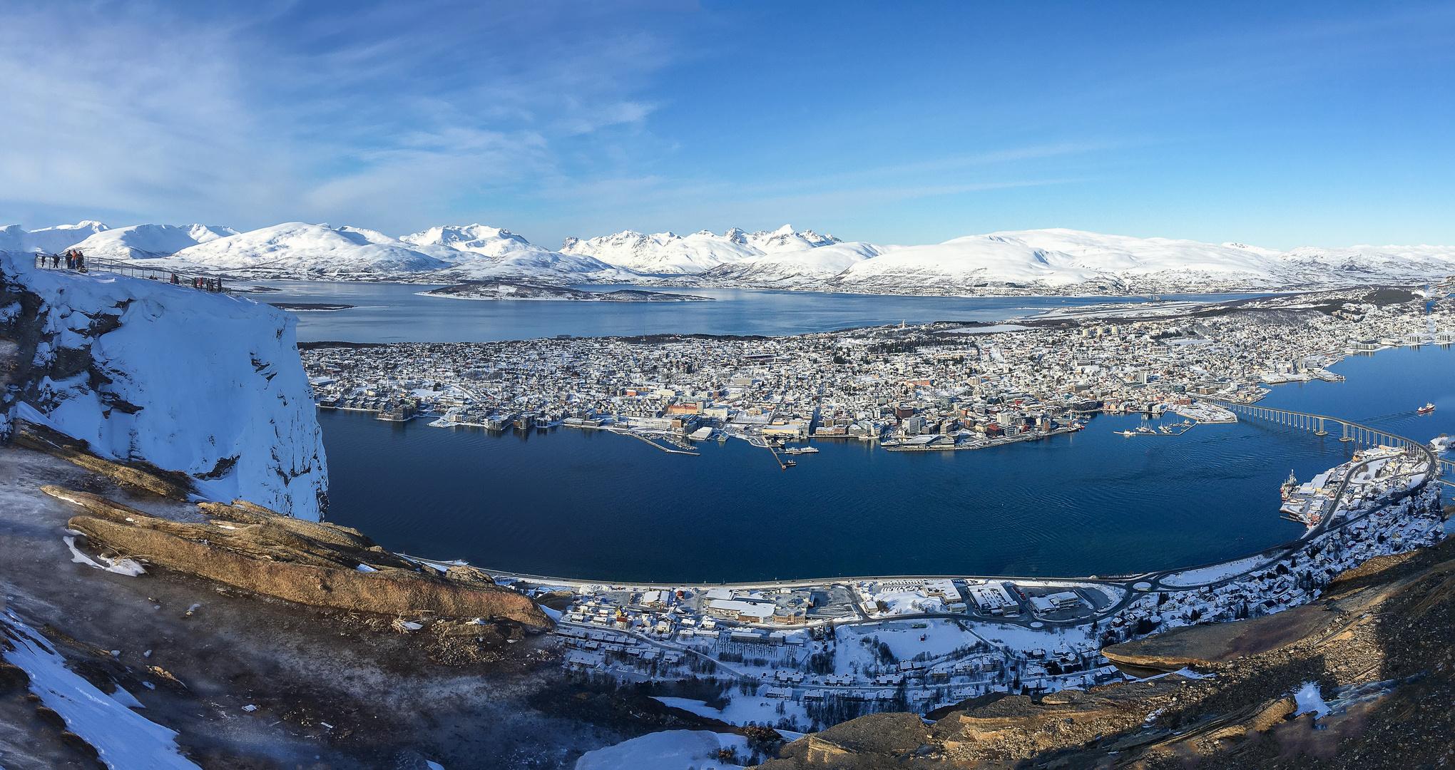 Tromsø - Panorama vom Storsteinen