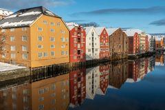 Trondheim_Speicherhäuser am Nidelva