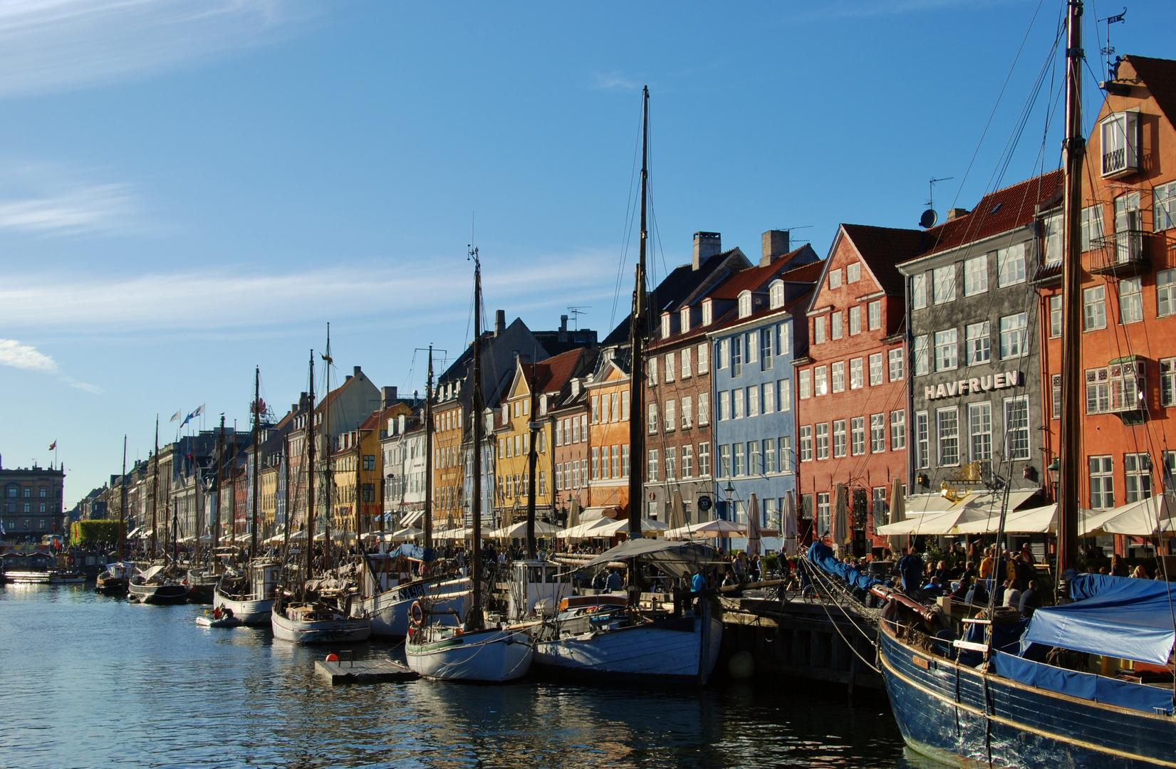 Trubel in Nyhavn, Kopenhagen