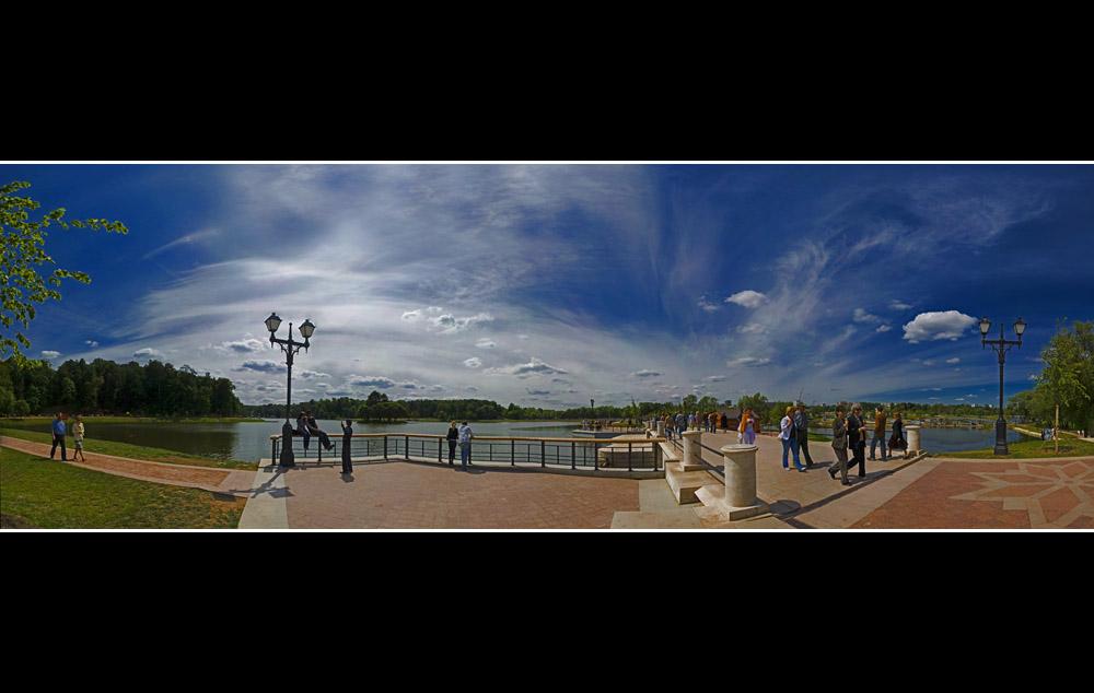 Tsaritsino. A park in Moscow