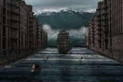 Tsunami in der Speicherstadt