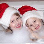Tub time Santa's
