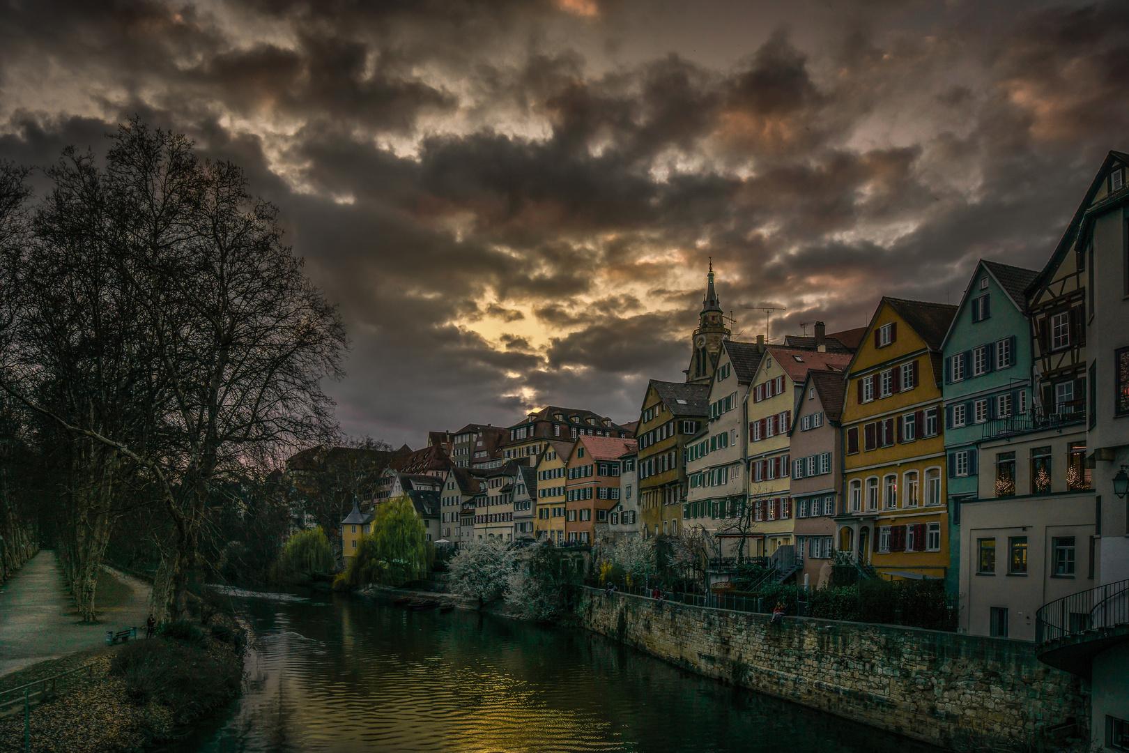 Tübingen im Abendlicht