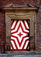 Tür rot/weiß