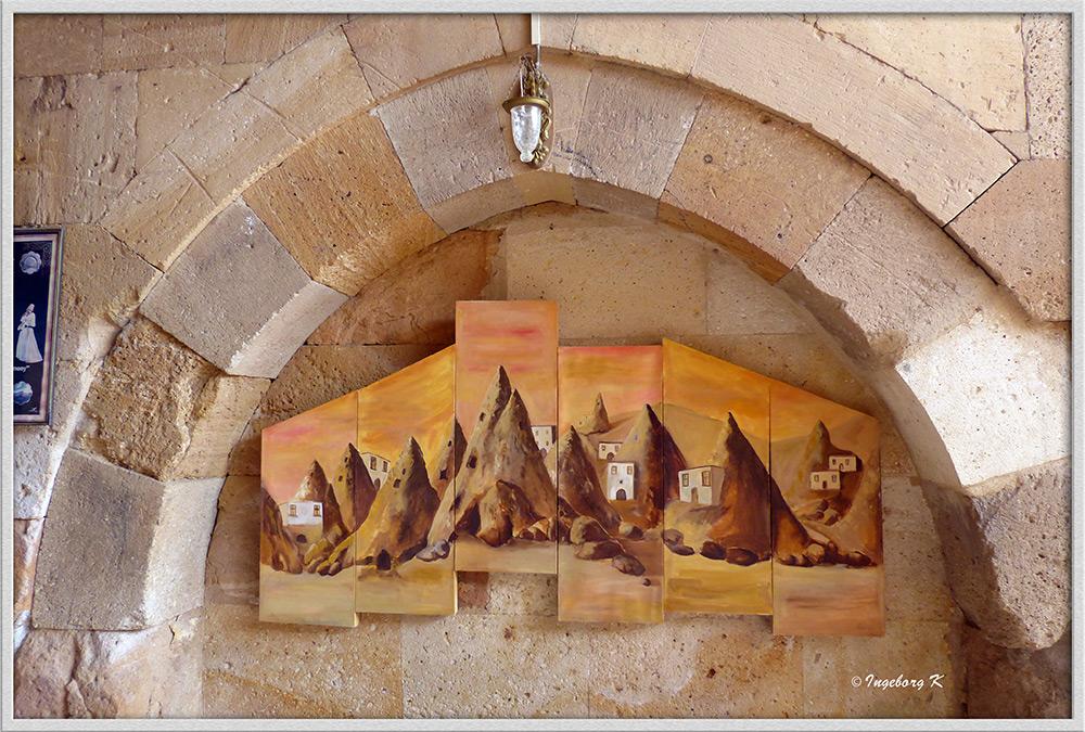 Türkei - Karawanserei Saruhan - Gemälde im Seitenbogen