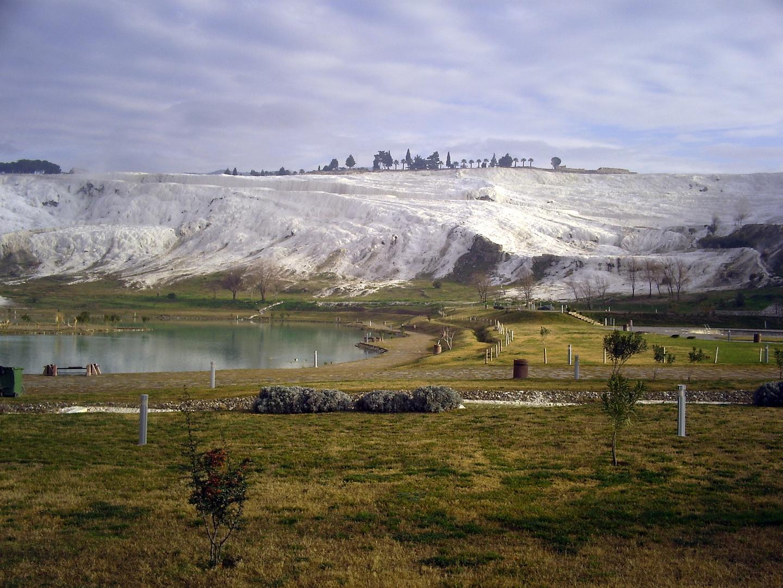 Türkei Pammakule Sinterterrassen Januar 2010