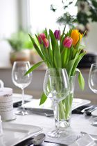 Tulpen als Deko beim Perfect Dinner