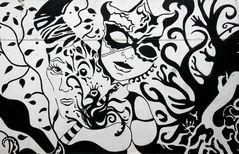 "Tunnel-Graffiti ""Carnevale"""