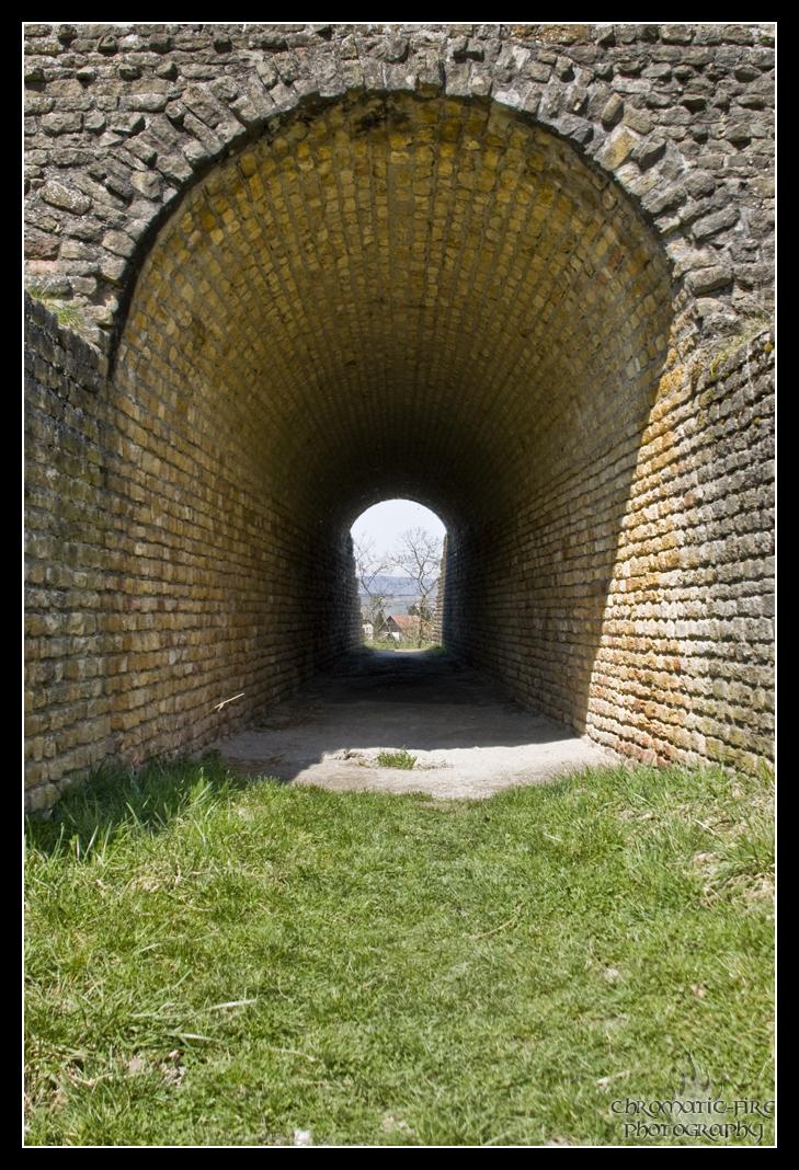 Tunnel in das Amphitheater