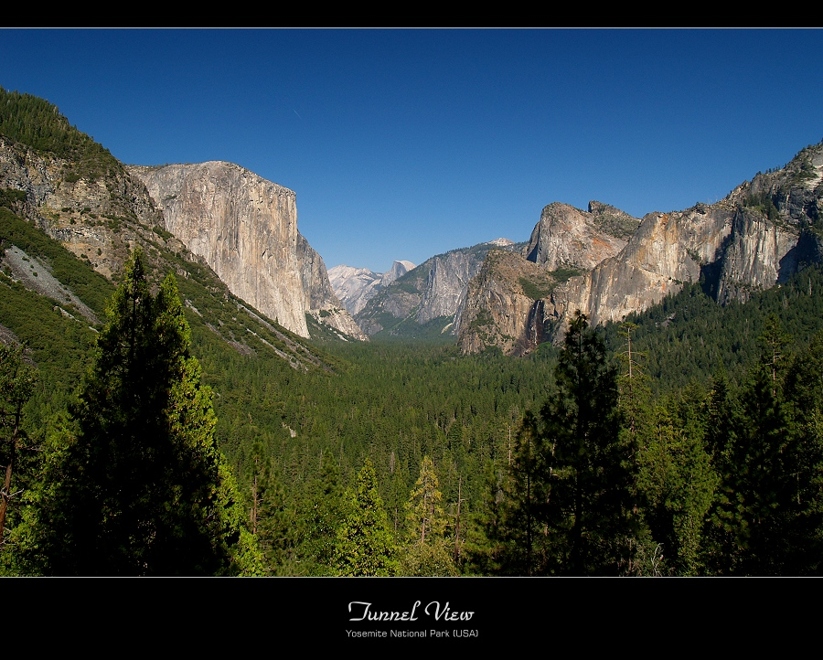 Tunnel View - Yosemite National Park (USA)