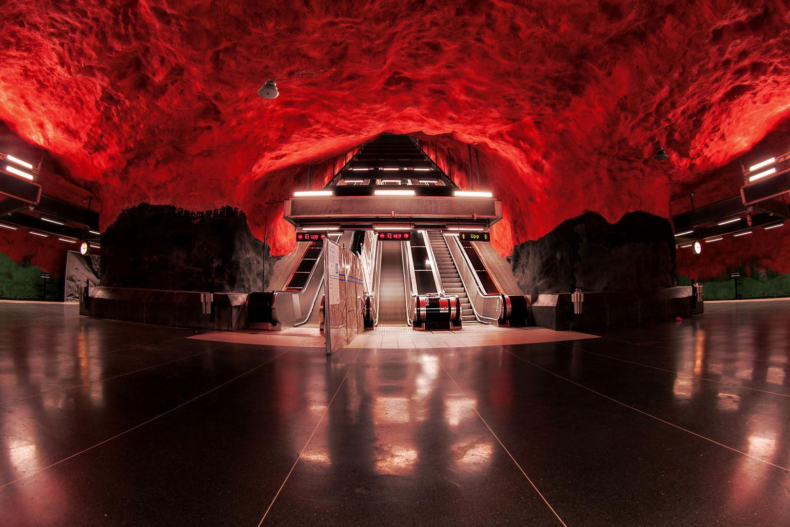 Tunnelbana Stockholm Solna Station