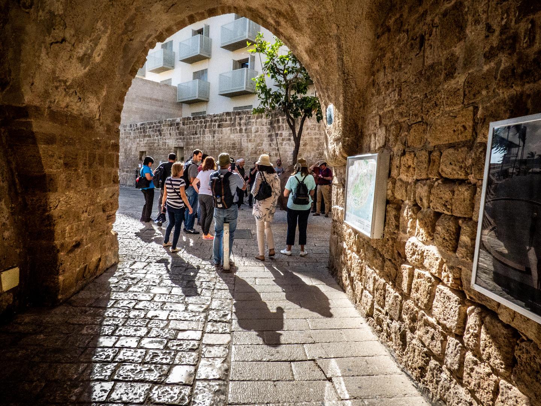 Turistas en Jaffa, Israel