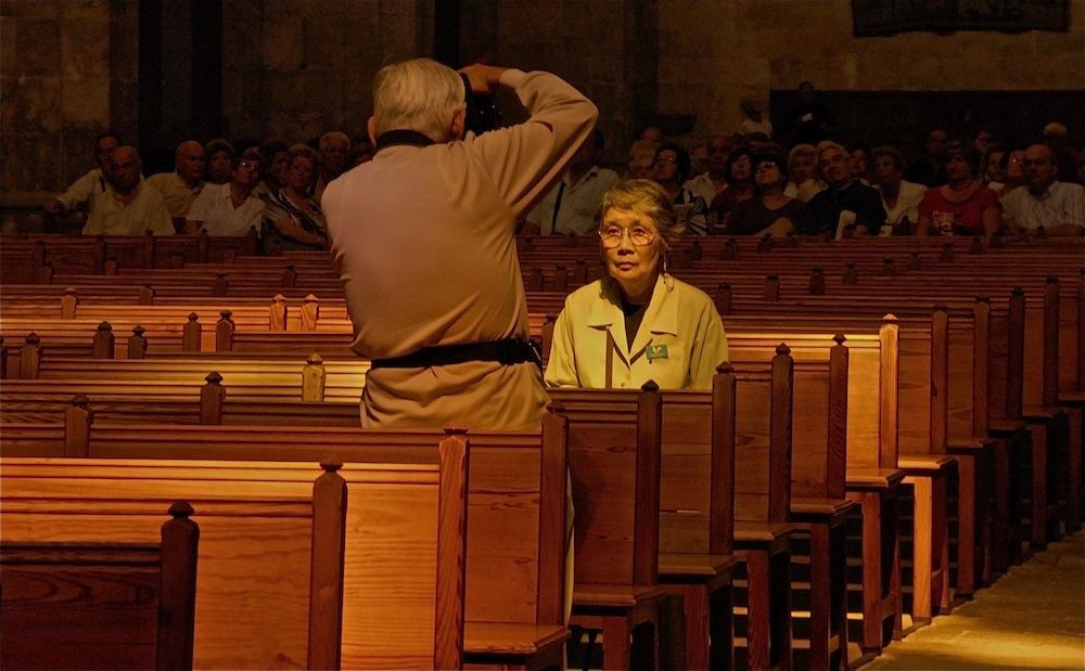 Turistas en la Catedral.