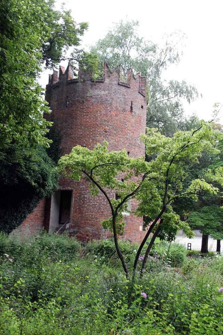 Turm an der Stadtmauer in Memmingen