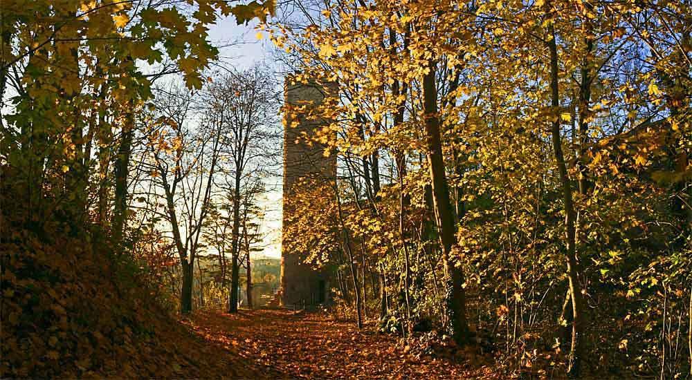 Turm der alten Stadtmauer von Landsberg