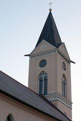 Turm der Dorfkirche in Rieben