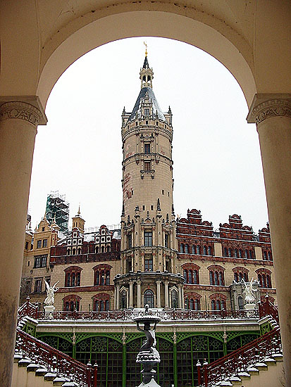 Turm des Schweriner Schlosses